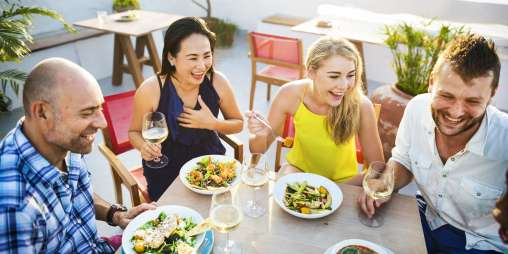 Group of people dining concept P7 W68 J2